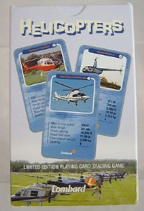 'Top Trumps' Trading Cards - Helicopters - Lombard Aviation - Sealed